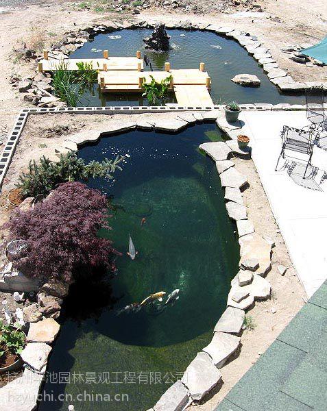 设计水池别墅生化建造花园供应过滤鱼池别墅系统无锡保洁公司图片