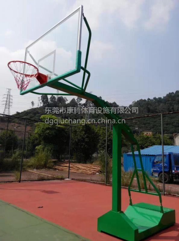 塘厦可推动篮球架 户外移动篮球架150小方管玻璃钢板篮球架