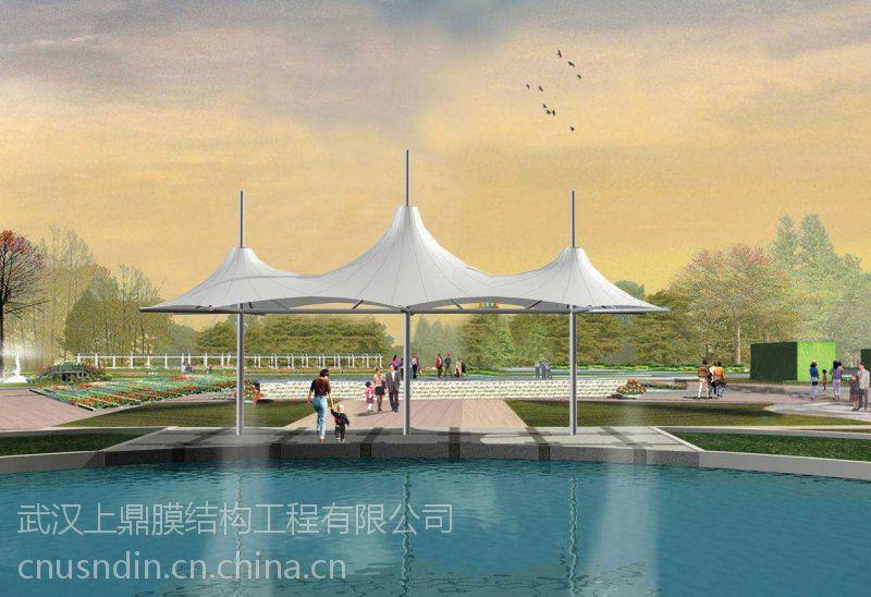 湖南长沙景观张拉膜、景观膜、公园张拉膜亭、广场舞台顶棚