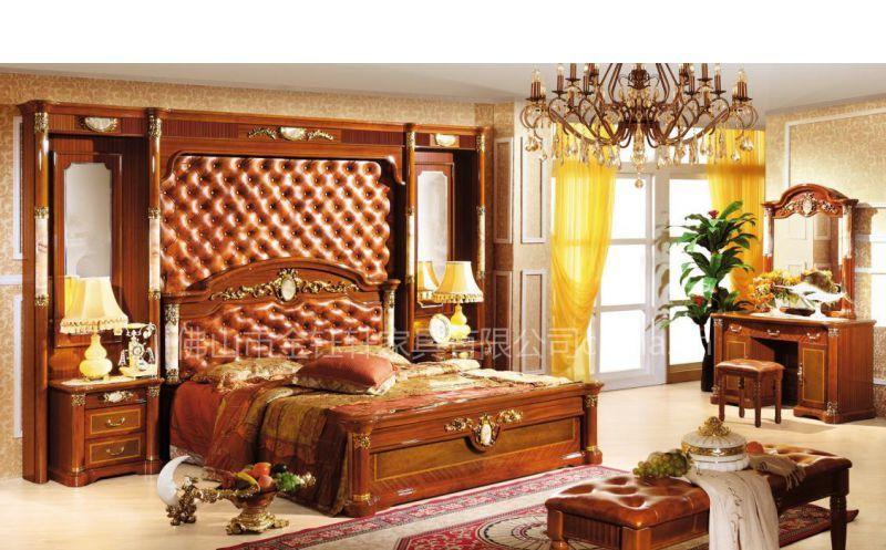 供应实木套房,床,床头柜