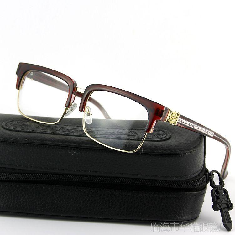 【华雅眼镜厂 复古克罗心款式PC近视眼镜框架