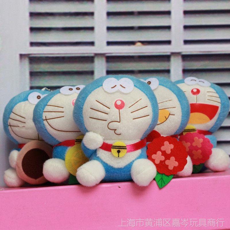 【可爱哆啦猫公仔机器猫毛绒玩具包包A梦卡通表情图片包收到《图片