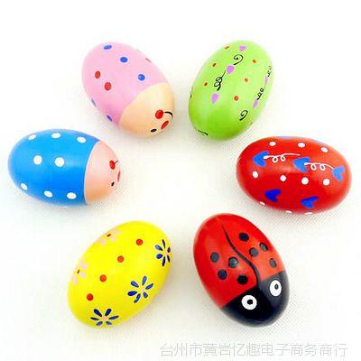 鸡蛋大沙蛋木质木亲子奥尔夫彩色益智儿童玩迷彩乐器帽图片
