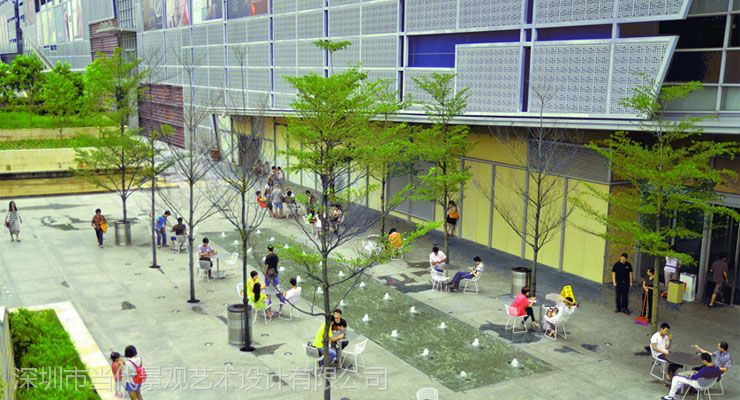 供应益田假日广场商业景观设计案例-法国deld当代景观公司作品图片