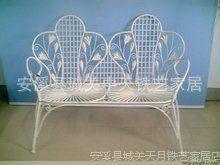 铁艺家居 精美双人座椅 户外座椅 休闲椅子 欧式田园风格