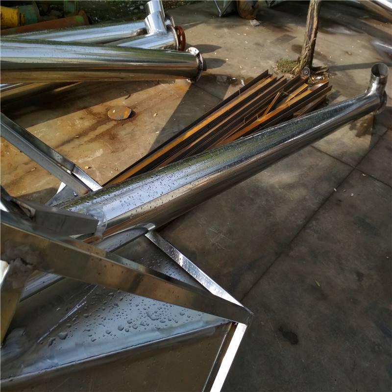 按需定做各种管径可倾斜式料仓配套管式螺旋输送机