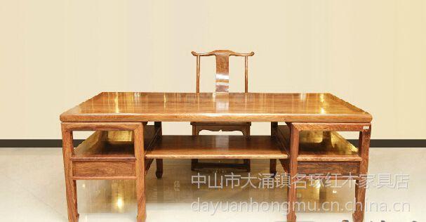 名琢世家供应批发刺猬紫檀明式画案 红木画案办公桌价格图片大全