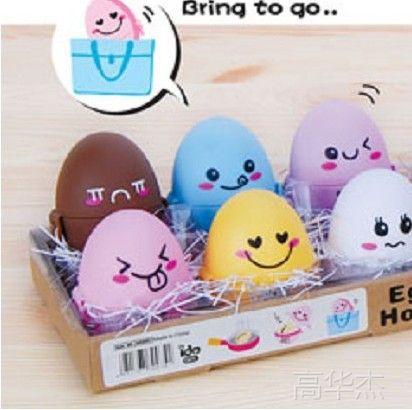 创意家居 韩版 可爱卡通 彩色表情 鸡蛋 保护壳图片