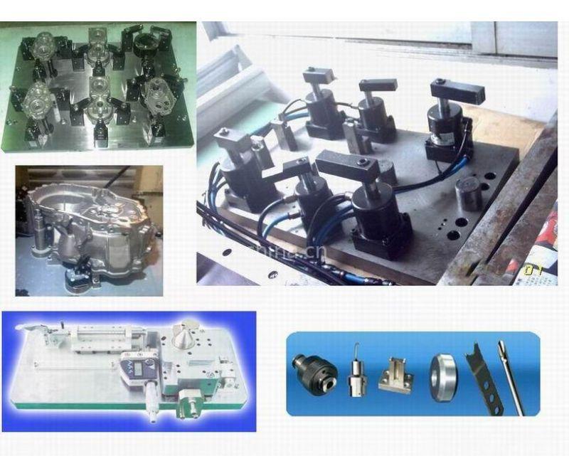 【供应整形模压型模铆钉压模校准块配件测试支架点胶机气动夹具底座图片