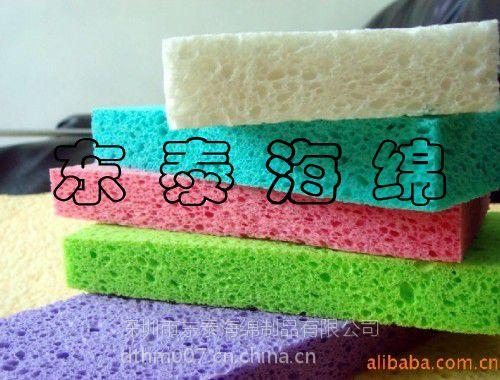 图案印刷木浆棉抹布/洗碗木浆棉块/耐擦海绵片东泰厂家