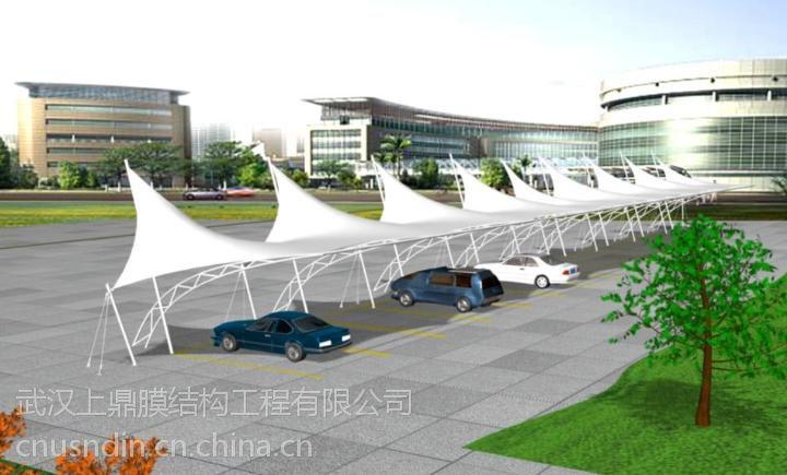 湖北荆州膜结构车棚景观棚 pvdf专用膜材 膜结构安装