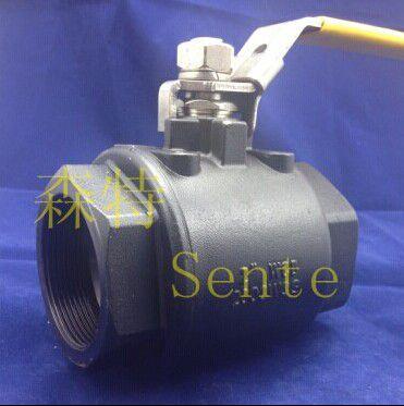 2000psi高压带锁两片式内丝球阀 手动浮动球阀 材质达标球阀