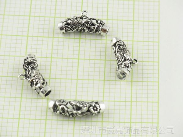 DIYS925带环管配件加工生产批发 珠宝首饰来图来样加工定制工厂