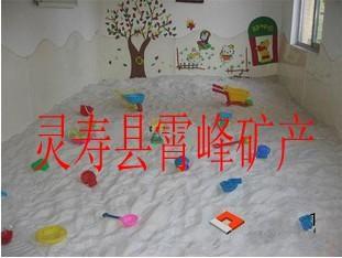 霄峰矿产幼儿园沙坑白沙子 20-40目淘气堡沙池白沙子 大型游乐园玩的