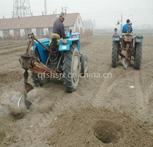 厂家直销大棚立柱挖坑机 手持式牵引式挖坑机