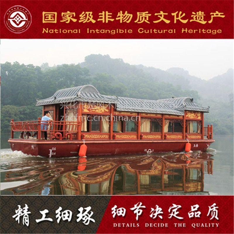 山东日照30人单层画舫船哪里有的卖 楚风出售 景区仿古游船 大型餐饮船