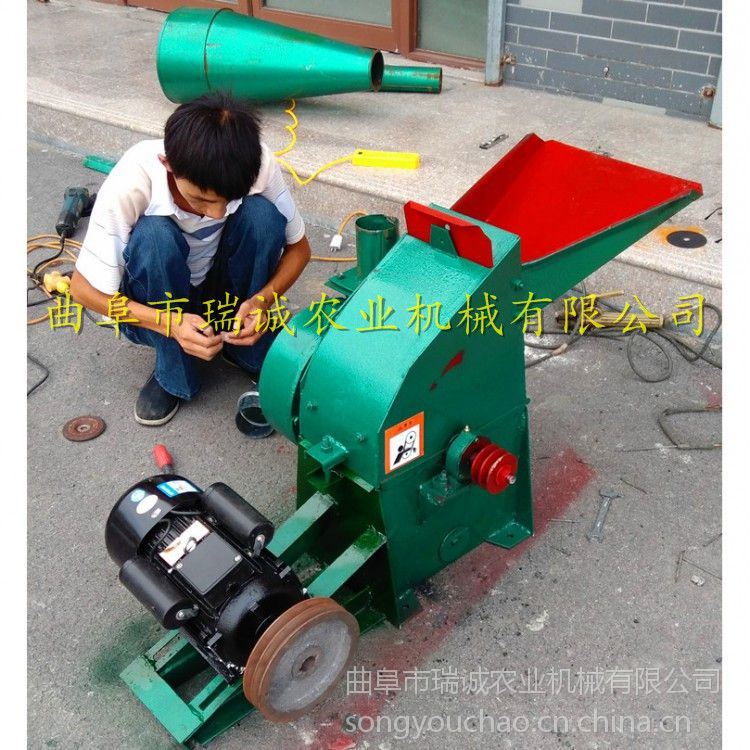 猪牛羊饲料粉碎机 中小型电动粉碎机 草料加工打碎机