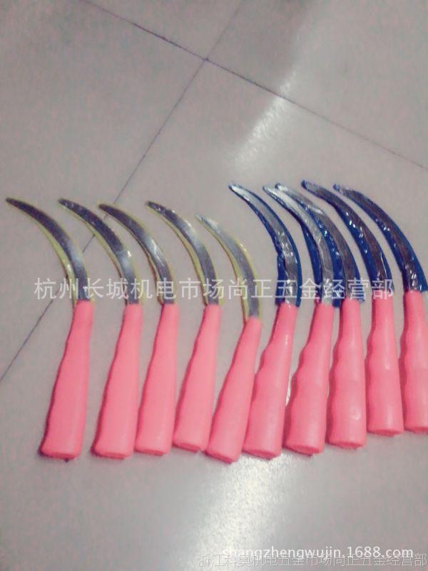 厂价供应割草,割水稻用的塑料柄锯齿镰刀