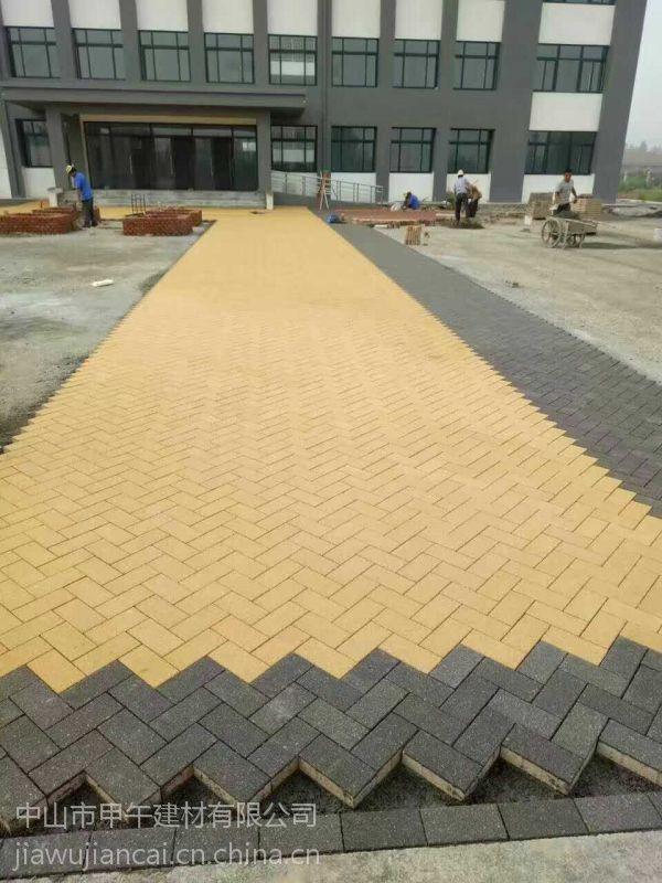 广东厂家供应各种优质陶瓷透水砖还有仿石透水砖