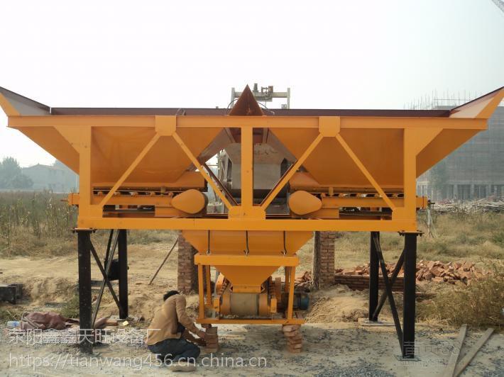 江苏太仓天旺600型砂石自动配比配料机移动方便