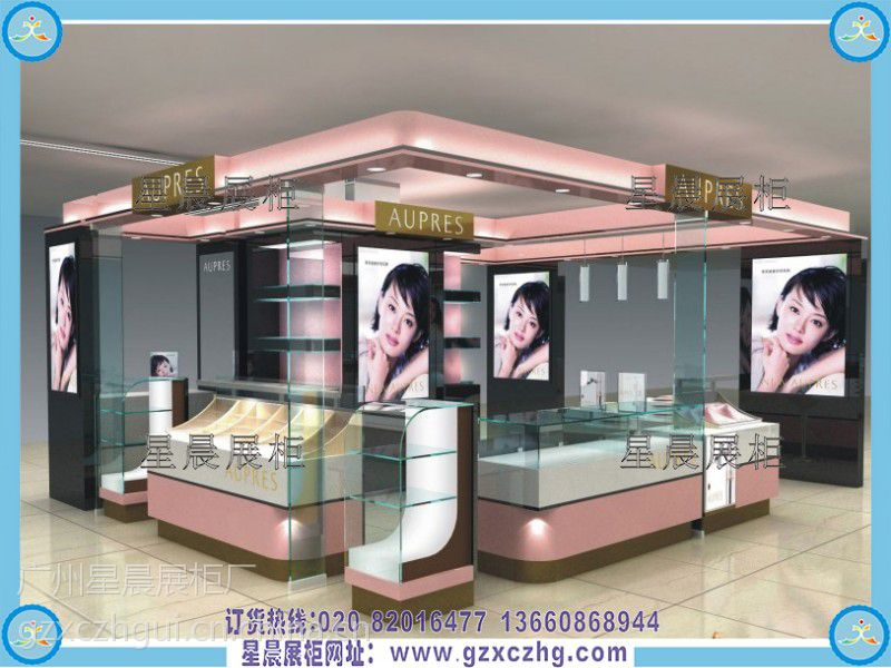 广州星晨专科厂化妆品店装修设计化妆品展示柜试卷v专科基础机械展柜及答案图片