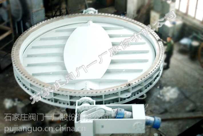 供应石家庄阀门一厂环球牌手动调节挡板阀(D341LW-0.5 DN300-DN5800)