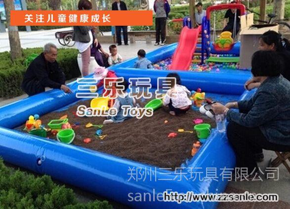 三乐(SanLe)环保PVC材料彩色 方形充气沙滩池子加工定做