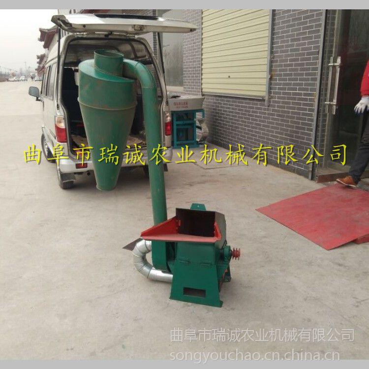 饲料加工电动粉碎机 除尘式秸秆打碎设备 环保节能饲料粉碎机