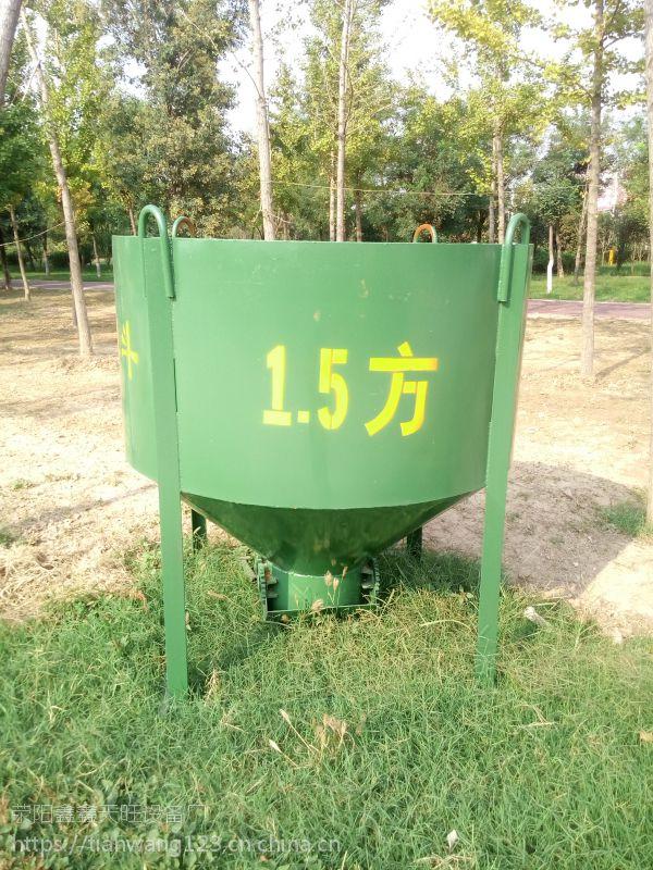 四川达州鑫旺圆柱形浇筑塔吊灰斗操作方便