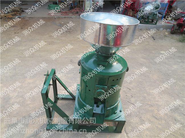单相电家用小型碾米机 新款谷子专用脱皮碾米机 润众