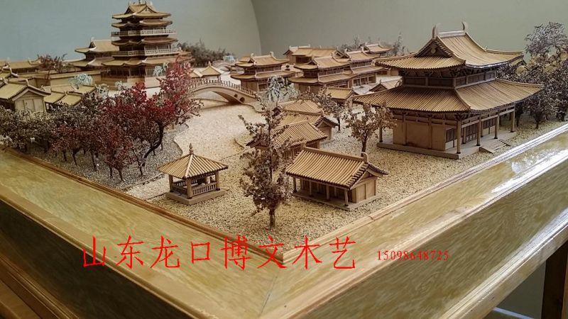 博物馆场景古建筑沙盘定做,古园林艮岳模型
