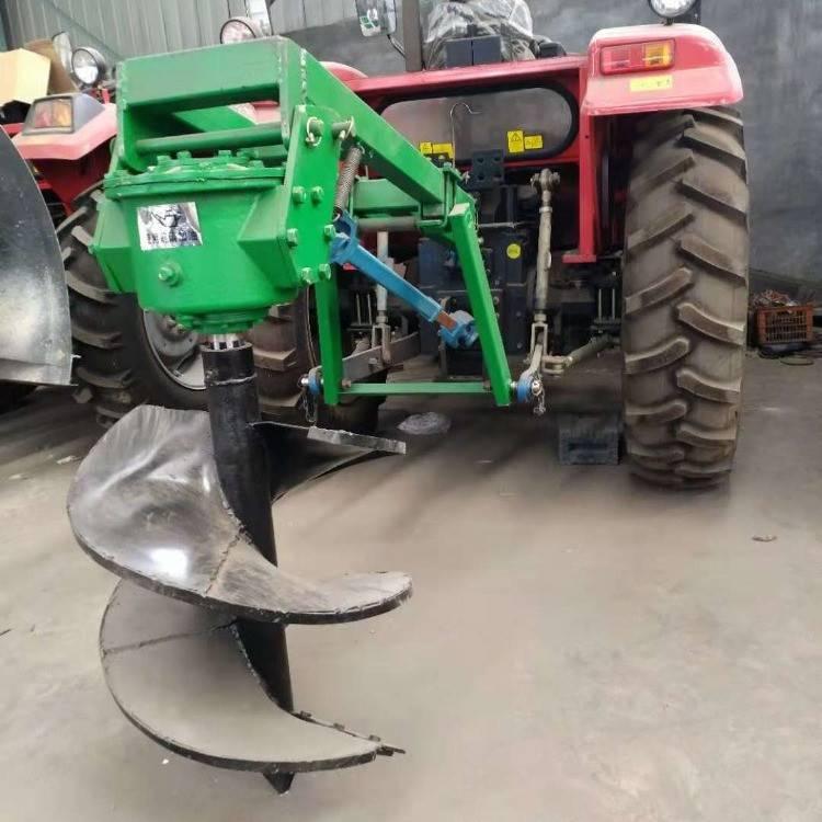 汽油大功率地钻机 拖拉机带植树钻坑机 园林种植挖坑机