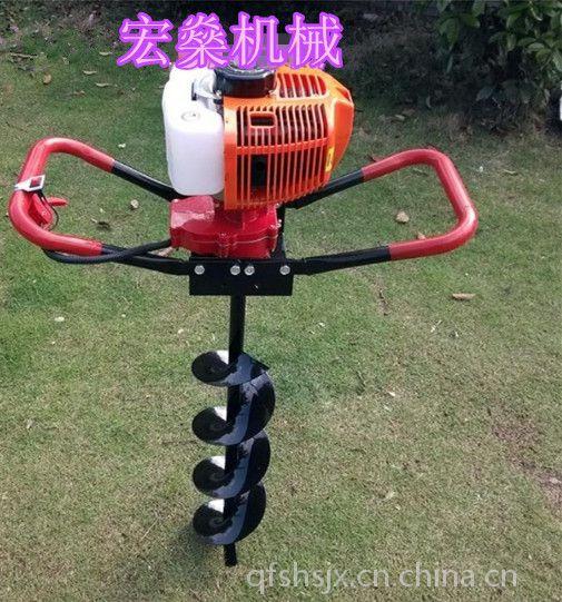 手提轻便汽油挖坑机 71CC汽油打桩机 小型轻便式挖坑机