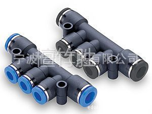 【供应厂家直销pk系列五通管接头,10mm气管接头,管接式接头,型号pk-10图片