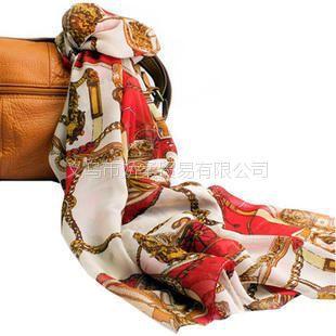 v雪纺雪纺设备链条围巾绒马车大牌仿真丝加长cvdpvd区别品质图片