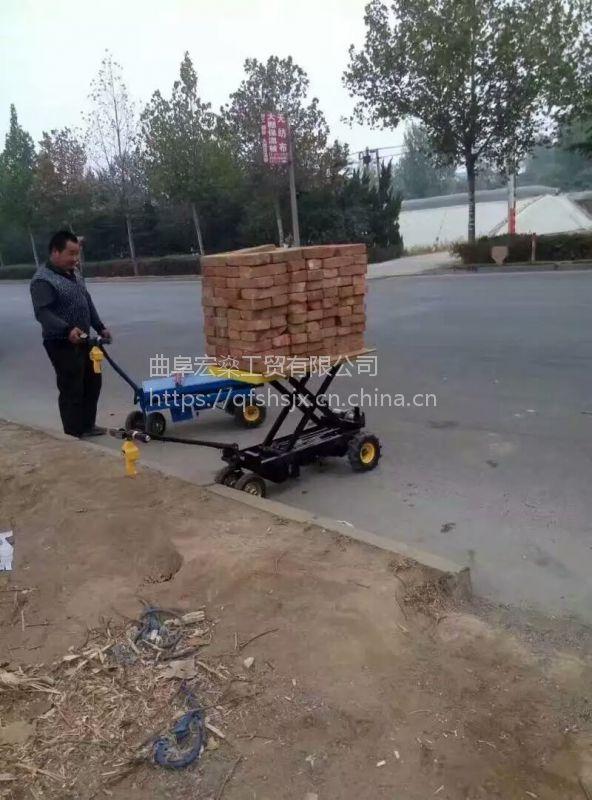 大棚电动搬运车 可折叠可轻骑 高低档 果园四轮蔬菜运输车