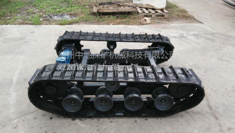 徐州中地小型液压履带底盘,农用机械底盘,钻机底盘,液压马达驱动图片