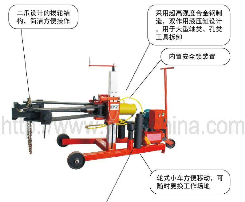 供应车载式液压拉马,大型液压拉马,100t液压拉马图片
