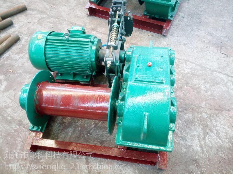 台州郑科JM-1.5T矿井提升慢速电制动卷扬机械牵引平稳