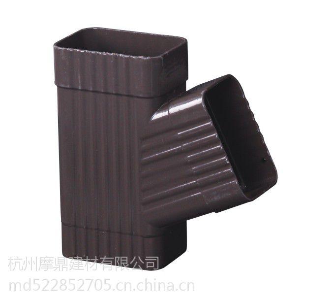 供应沃德新型优质屋面彩铝落水槽 pvc7寸檐槽排水系统 6.5寸屋面檐槽