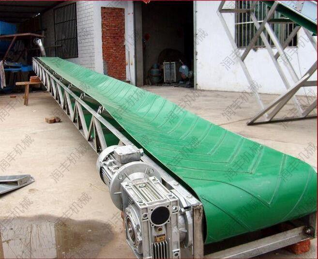 供应V型 移动式袋装输送机 物料装车传送机润丰