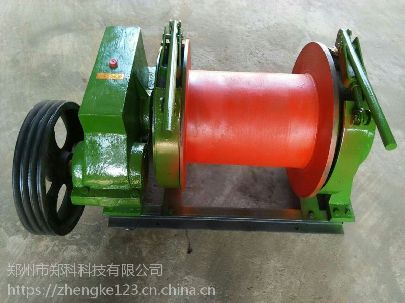 浙江台州郑科2T常用手动提升卷扬设备价格