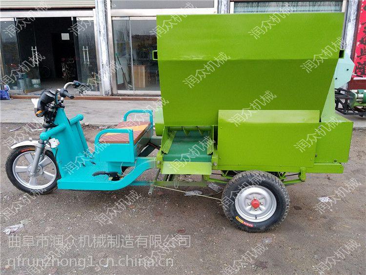 养殖场新款撒料车 吉林牧场专用撒料车 大小规模养殖场均可定制