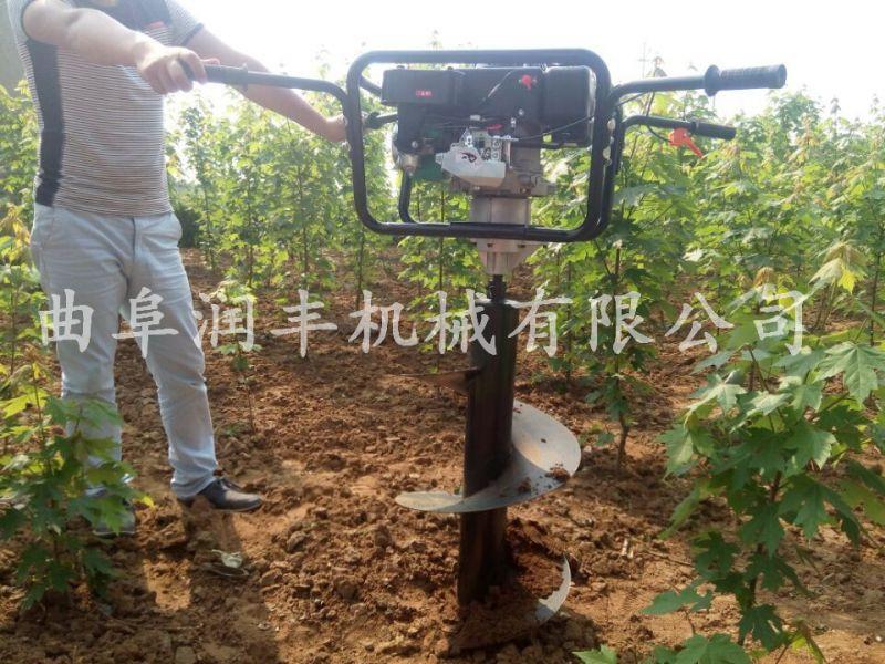 田间种树挖坑机 润丰 汽油钻眼机厂家 打坑机价格