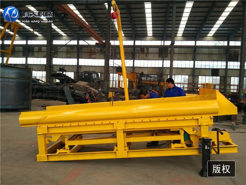 供应鼓动溜槽选金机械 淘金车有几种型号
