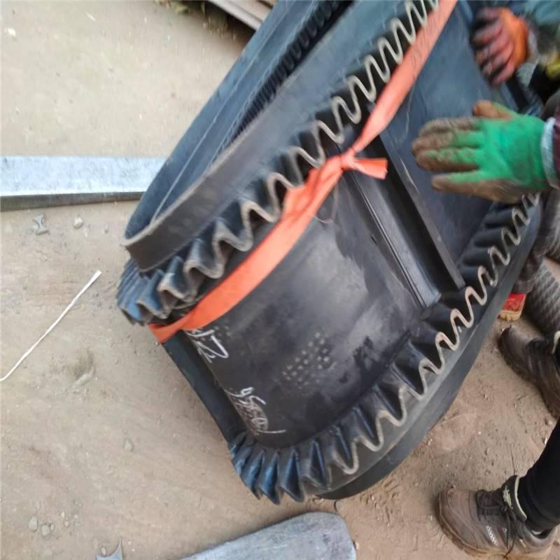 批量加工65公分宽粮食装船用裙边格挡式圆管皮带机