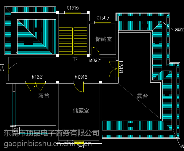 带双车库舒适后现代小型三层房屋设计图14.7x12.8米图片