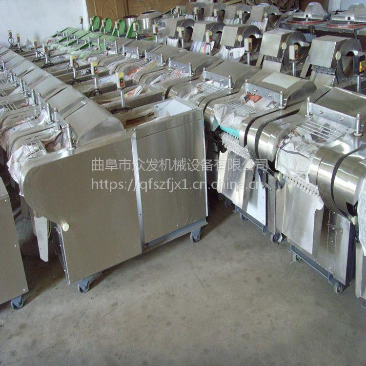 多功能切菜机价格 芹菜蒜台切段机 大型电动不锈钢切菜机