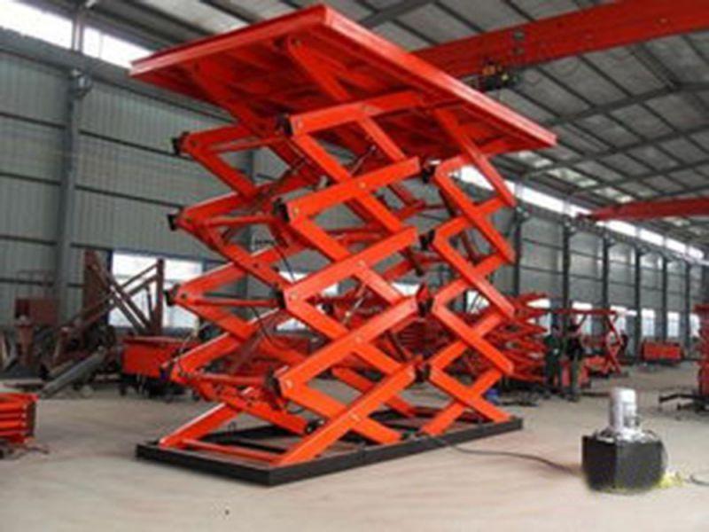 固定剪叉式升降机大型升降平台 启运厂家直销高空作业车