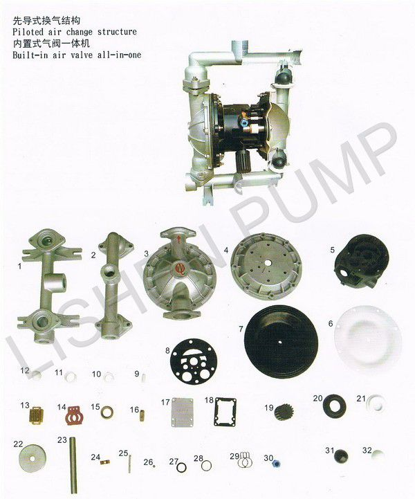 供应气动隔膜泵配件图片